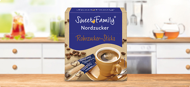 Rohrzucker-Sticks