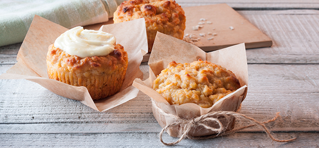 Carrot and Apple Muffins mit Frosting